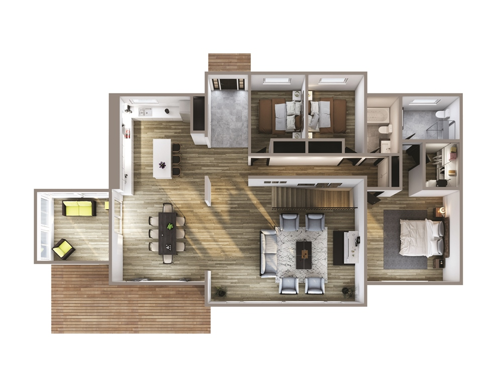 Huckleberry Floor Plan