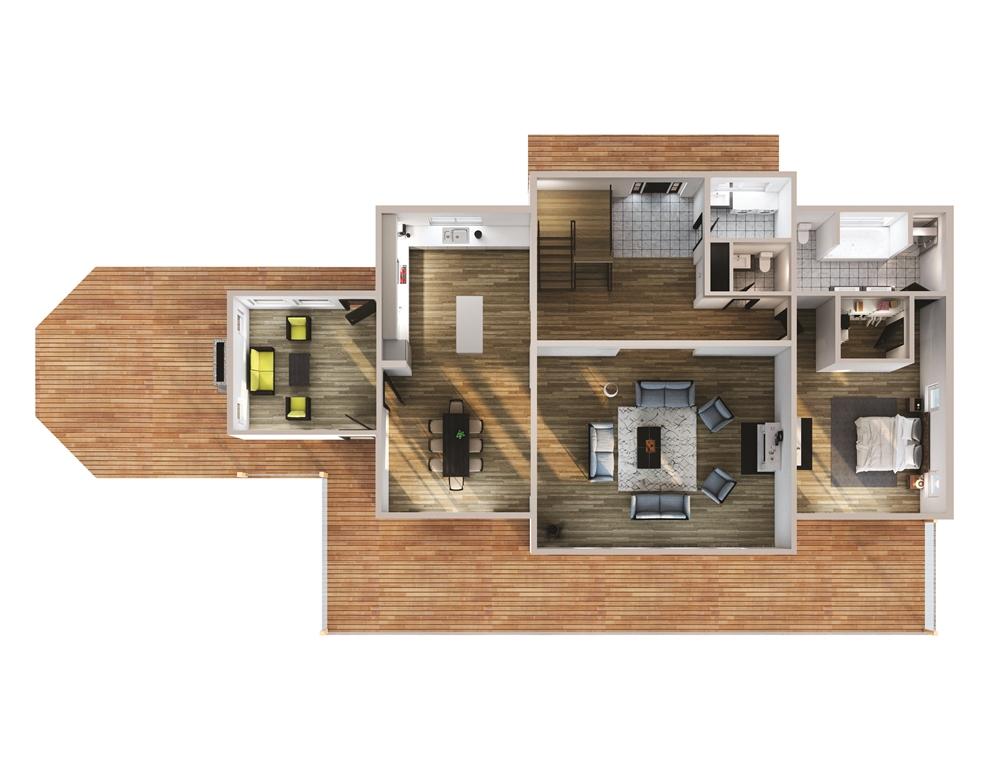 Rock Haven Floor Plan